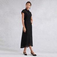 Lace Midi Dress , Black, 6