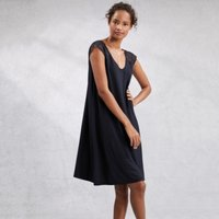 Lace Sleeve Nightie, Navy, Extra Small
