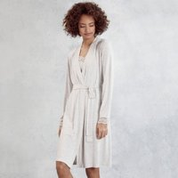 Lace-Trim Robe , Cloud Marl, Extra Small