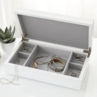 Lacquer Jewellery Box Lid, White, One Size