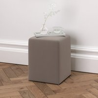 Langley Velvet Stool, Silver Grey Velvet, One Size