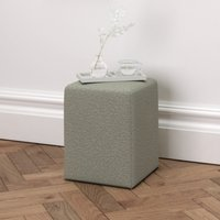 Langley Wool Stool, Light Grey Wool, One Size