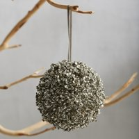 Large Allium Glitter Bauble, Champagne, One Size