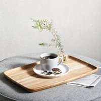 Large Oak Wooden Tray, Natural, One Size