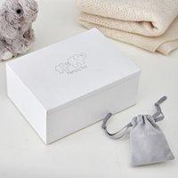 Leather Kimbo Keepsake Box, White, One Size