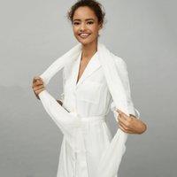 Lightweight White Scarf , White, One Size