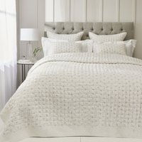 Lillie Quilt, White Grey, King/Super King
