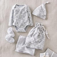 Little Cloud Baby Gift Set, Grey White, 0-3mths
