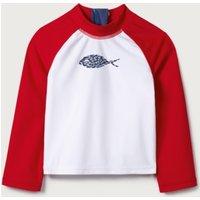 Little Fish Rash Guard (0-24mths), White/ Red, 18-24mths