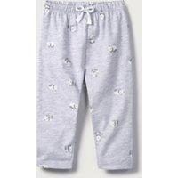 Little Panda Print Leggings, Grey, Newborn