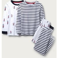 London & Stripe Pyjamas - Set of 2 (1-12yrs), Multi, 3-4yrs