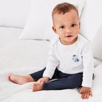 London Bear Pyjamas, White, 0-3mths