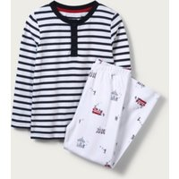 London Henley Pyjamas (1-12yrs), Navy/White, 7-8yrs