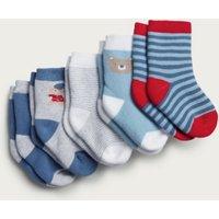 London Socks - Set of 5, Multi, 12-24mths