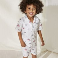 London Woven Shortie Pyjamas (1-12yrs), White, 7-8yrs