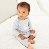 Lumi Pyjamas, White, 0-3mths