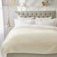 Luxury Alpaca And Silk Throw, Alabaster, One Size