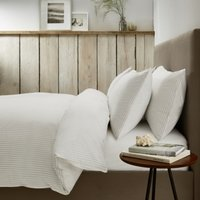 Markham Duvet Cover, White Clay, Super King