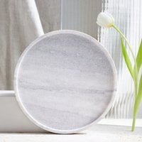 Marble Round Board, Grey / Stone, One Size