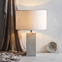 Marble Table Lamp, White Grey, One Size