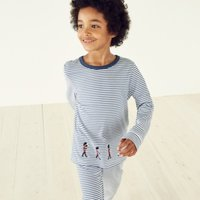 Marching Band Pyjamas (1-12yrs), White Blue, 2-3yrs