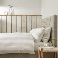 Maris Stripe Duvet Cover, White Natural, Single