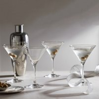 Martini Glass – Set of 4, Clear, One Size