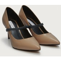 Mary Jane Court Shoes, Nude, 40