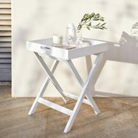 Matte White Butlers Tray, White, One Size