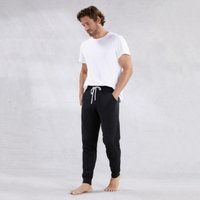 Men's Cotton-Cashmere Joggers, Dark Charcoal Marl, Extra Large