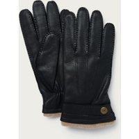 Men's Deerskin Gloves , Black, M/L