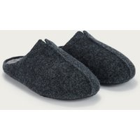 Men's Felted Mule Slippers, Dark Charcoal Marl, S(7/8)