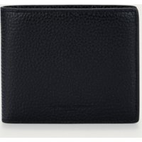 Men's Leather Bifold Wallet , Black, One Size