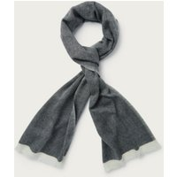 Men's Wool Chevron Scarf, Black, One Size