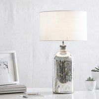 Mercury Small  Bottle Table Lamp, Silver, One Size