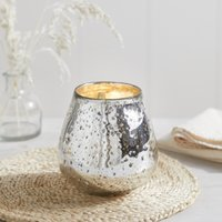 Mercury Tealight Holder, Silver, One Size