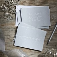 Merry & Bright, Let It Snow Christmas Card Duo - Set of 6, Silver, One Size