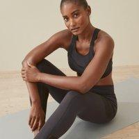 Mesh Pocket Workout Leggings, Black, Small