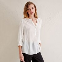 Metallic Stripe Blouse, Ivory, 16