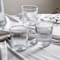 Milford Tumbler – Set of 4, Clear, One Size