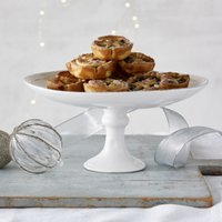 Mince Pie Cake Stand, White, One Size