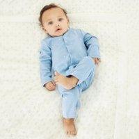 Moon & Star Sleepsuit, Blue, Newborn