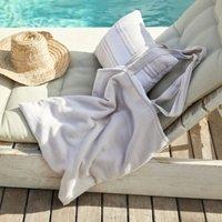 Morella Outdoor Tote Bag & Cushion Set, White Natural, One Size