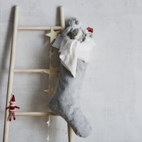 My First Christmas Stocking with Toys, Grey, One Size