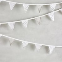 Noahs Ark Bunting - 10m, White, One Size