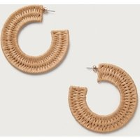 Natural Woven Hoops