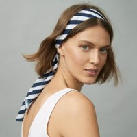 Nautical Stripe Headscarf , Navy, One Size