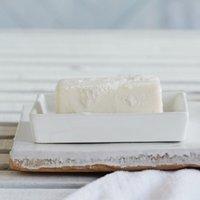 Newcombe Ceramic Soap Dish, White, One Size