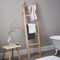 Bathroom Ladder, Oak, One Size