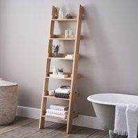 Oak Small Ladder Shelf, Oak, One Size